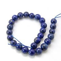 16 Inch Natural Lapis Lazuli 12mm Round Beads